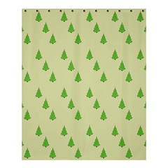 Christmas Wrapping Paper Pattern Shower Curtain 60  x 72  (Medium)