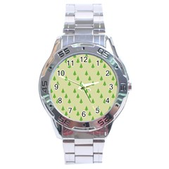Christmas Wrapping Paper Pattern Stainless Steel Analogue Watch