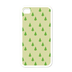 Christmas Wrapping Paper Pattern Apple iPhone 4 Case (White)