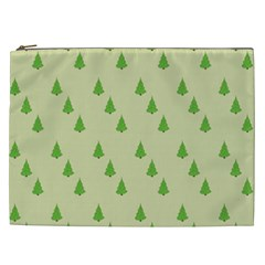 Christmas Wrapping Paper Pattern Cosmetic Bag (XXL)