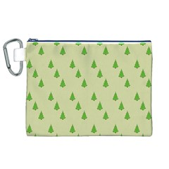 Christmas Wrapping Paper Pattern Canvas Cosmetic Bag (XL)