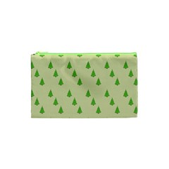 Christmas Wrapping Paper Pattern Cosmetic Bag (XS)
