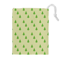 Christmas Wrapping Paper Pattern Drawstring Pouches (Extra Large)
