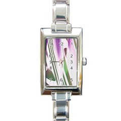Colored Pattern Rectangle Italian Charm Watch