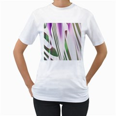 Colored Pattern Women s T-Shirt (White) (Two Sided)