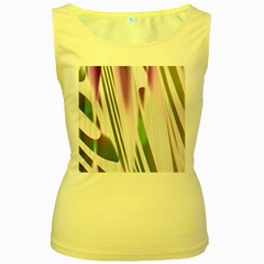 Colored Pattern Women s Yellow Tank Top