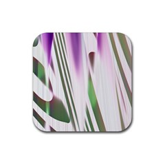 Colored Pattern Rubber Square Coaster (4 Pack)