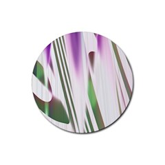 Colored Pattern Rubber Round Coaster (4 pack)