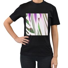 Colored Pattern Women s T-Shirt (Black) (Two Sided)