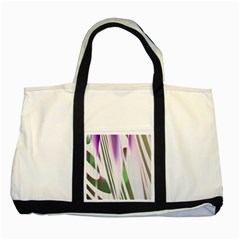 Colored Pattern Two Tone Tote Bag