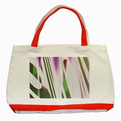 Colored Pattern Classic Tote Bag (Red)