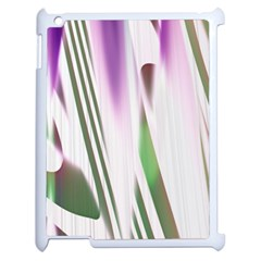 Colored Pattern Apple iPad 2 Case (White)