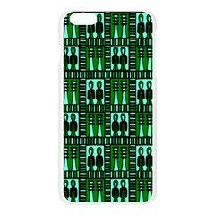Egyptianpattern Colour Green Apple Seamless iPhone 6 Plus/6S Plus Case (Transparent)