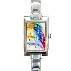 Colour Abstract Rectangle Italian Charm Watch