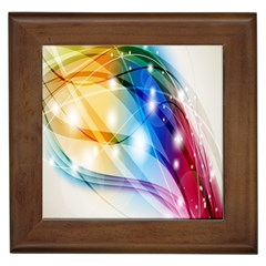 Colour Abstract Framed Tiles