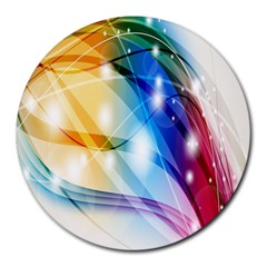 Colour Abstract Round Mousepads