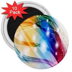 Colour Abstract 3  Magnets (10 pack)