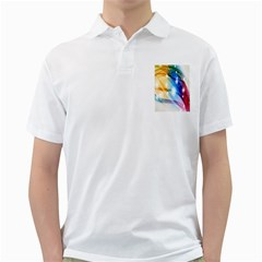 Colour Abstract Golf Shirts