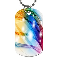 Colour Abstract Dog Tag (Two Sides)