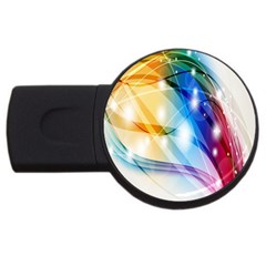 Colour Abstract USB Flash Drive Round (2 GB)