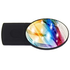 Colour Abstract USB Flash Drive Oval (2 GB)