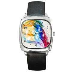 Colour Abstract Square Metal Watch