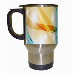 Colour Abstract Travel Mugs (White)