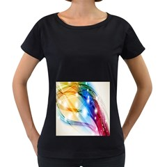 Colour Abstract Women s Loose-Fit T-Shirt (Black)
