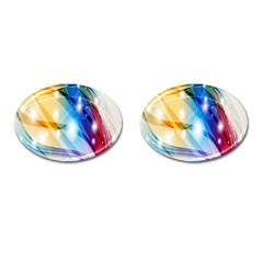 Colour Abstract Cufflinks (Oval)