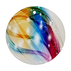 Colour Abstract Round Ornament (Two Sides)