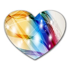 Colour Abstract Heart Mousepads