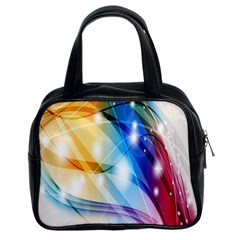 Colour Abstract Classic Handbags (2 Sides)