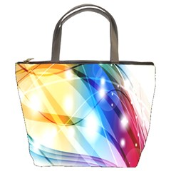 Colour Abstract Bucket Bags