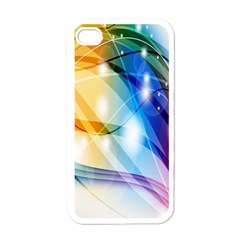 Colour Abstract Apple iPhone 4 Case (White)