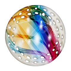 Colour Abstract Round Filigree Ornament (Two Sides)