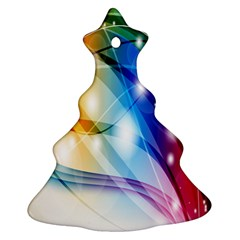 Colour Abstract Christmas Tree Ornament (Two Sides)