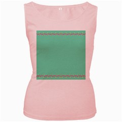 Flamingo Border Women s Pink Tank Top
