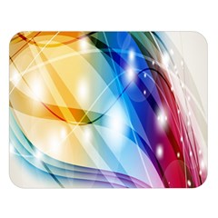Colour Abstract Double Sided Flano Blanket (Large)