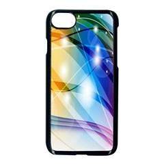 Colour Abstract Apple Iphone 7 Seamless Case (black)