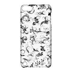 Flower Floral Black Leaf Apple Ipod Touch 5 Hardshell Case With Stand