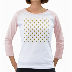 Gold Stars Girly Raglans