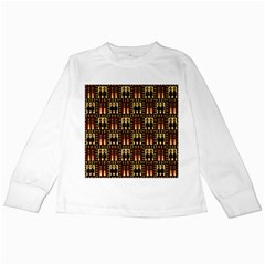Egyptianpattern Colour Red Kids Long Sleeve T Shirts