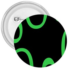 Green Rings Black 3  Buttons