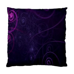 Purple Abstract Spiral Standard Cushion Case (two Sides)