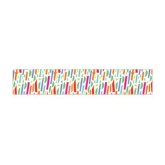 Splash Pattern Color Sign Flano Scarf (Mini)