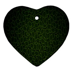 Leaves Dark Ornament (heart)