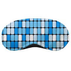 Ronded Square Plaid Blue Sleeping Masks