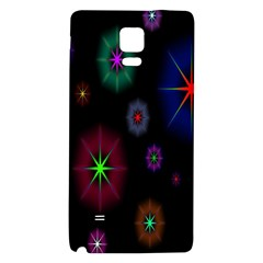 Star Circles Colorful Glitter Galaxy Note 4 Back Case