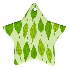 Spring Leaf Green Ornament (star)
