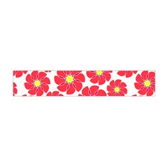 Seamless Floral Flower Red Fan Red Rose Flano Scarf (Mini)